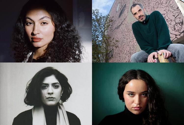 Collage der TeilnehmerInnen des Poetry Slam